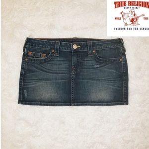True Religion Denim Mini Skirt (Vampire Diaries)